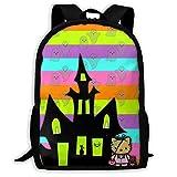 Mei-shop Zaino da Viaggio Personalizzato Spooky Hello-Kitty Zaino Casual da Viaggio