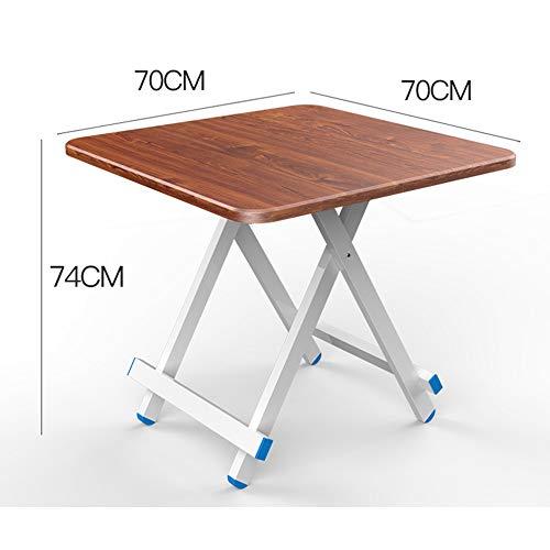 PULLEY-S Mesa plegable ligero muebles de camping, compacto Desplegable Mesa de comedor, fácil de llevar, Limpie con un trapo, Plaza plegable portátil de mesa de comedor de escritorio - El mejor for al