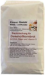 Backmischung Dinkelvollkornbrot mit Zink Selen Vitaminen 1 kg / Brot Backen Mischung Knaus Mehl