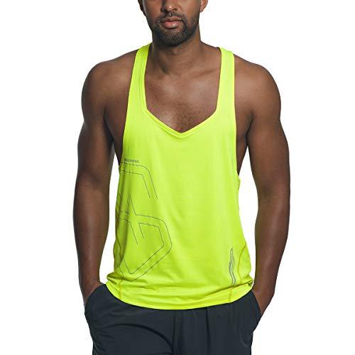 Gym Aesthetics Camiseta sin mangas para hombre Muscle Workout Stringer - amarillo - Medium