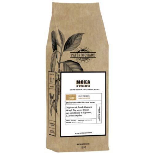 Cafés Richard Moka d\'Ethiopie 100{f66e550311ac89928f25028d4461dca29dd820d215c1f5b63288603fdaa0ad53} Arabica Kaffeebohnen (500 GR)