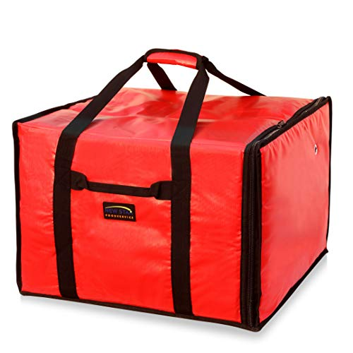 New Star Foodservice 50134 Insulated Pizza Delivery Bag, 20' by 19' by 13', Red
