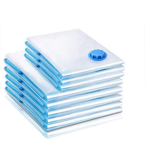 AlpoHome Vakuumbeutel - 8 TLG Set - 2 Größen - 3 Stück 100 * 80 und 5 Stück 80 * 60- Kompressionsbeutel zur Aufbewahrung von Kleidung, Bettdecken und Bettwäsche. (8)