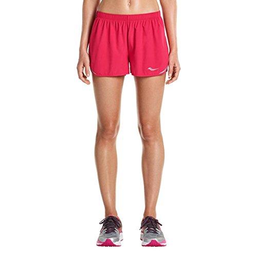 Saucony Women's Endorphin Split Shorts, Raspberry Beret, Medium