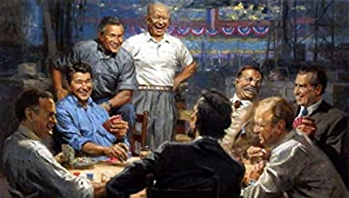 Peck & Gartner Andy Thomas Grand Ol Gang Republican Presidents Playing Cards Signed Art Print (Paper 19 x 13 Image Size 17 x 11)