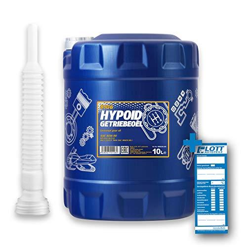 MANNOL 10L Hypoid Getriebeoel 80W-90 API GL 4/GL 5 LS + Auslaufschlauch