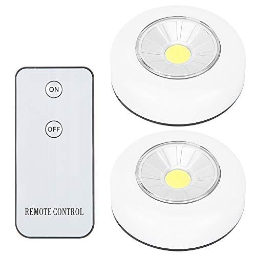 Aoutecen Luce Adesiva, di Piccole Dimensioni Telecomando Luce Notturna Corridoio Luce LED Facile da installare Basso consumo energetico Resistente da Usare per Scale per Garage