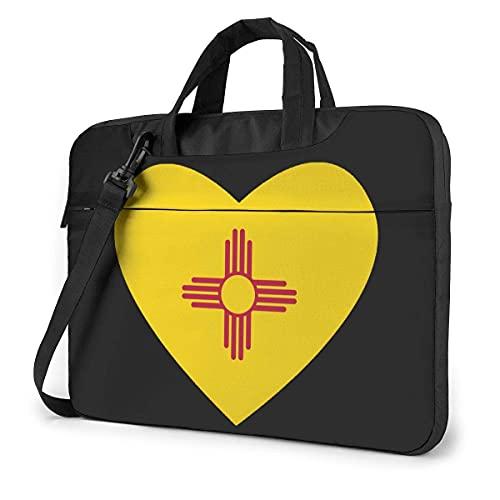 Bolsa De Hombro Para Portátil Flag Of New Mexico Heart Laptop Bag Un Hombro Bolsa Para Computadora Portátil A Prueba De Golpes