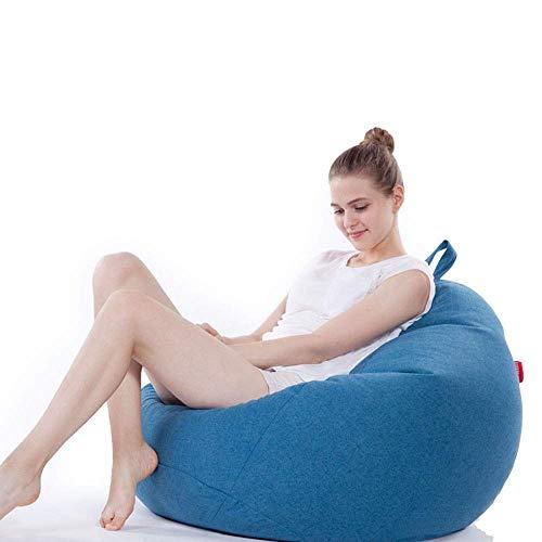 Office Life Einzelsofa Sitzsack Stuhl Memory Foam Möbel Tuffed Foam Gefüllte Möbel und Zubehör für Schlafsaal Spezialitäten Liegestuhl (Farbe: Hellblau, Größe: Freie Größe)