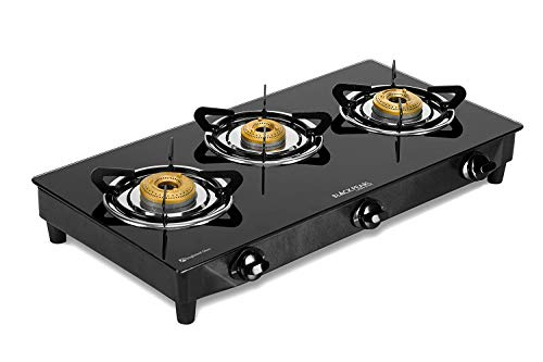 Black Pearl Lifestyle Glass Top Gas Stove