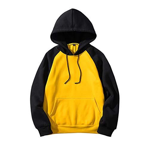 Sweat-Shirt pour Homme_Pull Adolescent Pulls à Capuche VêTements De Sport Jaune/Noir/Gris Foncé/Kaki/Orange Taille S M L XL 2XL