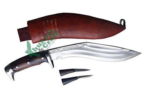 "Khukuri & Craft 11"" Blade American Eagle 3 fullers Best kukri Brown Sheath Working,Military Knives,Handmade, Nepal"