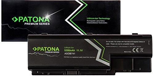 PATONA Batteria Premium per laptop (5200mA) compatibile con Acer Aspire 5200 5310 5310 5310 5315 5520 5520 5710 5720 5920 5920 5920 6920 6920 6930 6935 7520 8920 8920 8930 (Samsung Cells inside)