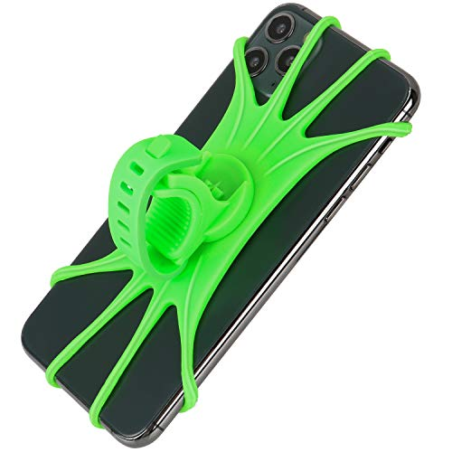 """Newppon Bike Phone Mount Holder : 360° Rotation Stable Elastic Silicone Motorcycle Smartphone Holder fits iPhone 11 Pro Max SE X Xs Xr Samsung Galaxy S20 S10 S10e GPS Unit 4~7"""" inches"""