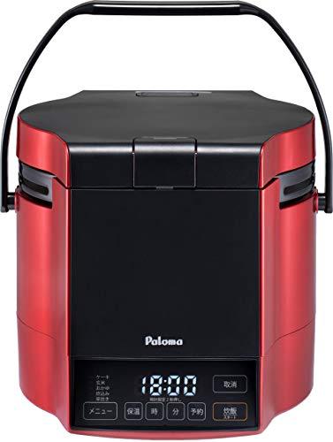 パロマ ガス炊飯器 炊きわざ PR-M09TR -LPG (0.9L/5合炊き) 【プロパンガス(LPG)用】プレミアムレッド×ブラック