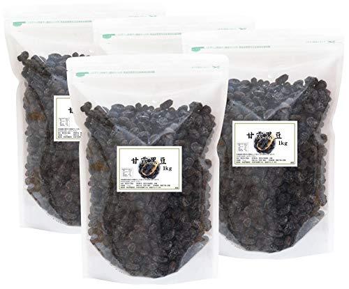 自然健康社 国産・甘露黒豆 1kg×4個 チャック付袋入り
