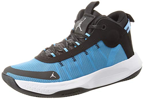Nike Herren Jordan Jumpman 2020 Basketballschuh, Univ Blue MTLC Silver Black White, 42 EU