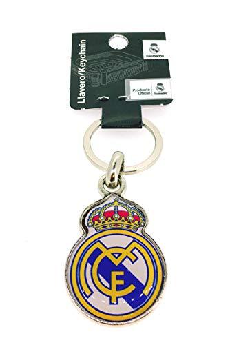 Gemelolandia Llavero Real Madrid Club de Fútbol Producto Oficial | para Guardar y Tener recogidas Las Llaves | Porta Llaves Original y Práctico | Organizador de Llaves Compacto