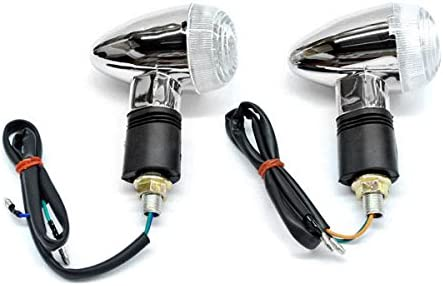 Max 88% OFF Ranking TOP20 Krator Motorcycle 2 pcs Clear Compati Turn Bullet Signals Lights