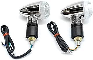 Krator Motorcycle 2 pcs Clear Bullet Turn Signals Lights For Yamaha Raider S XV 1900 XV1900