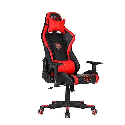 Hoge-back, racestoel, PU-leer, kuipstoel, bureaustoel, bureaustoel, computerstoel met lendensteun