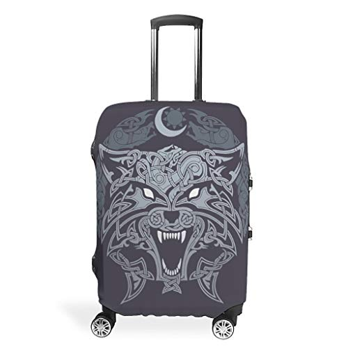 Travel Luggage Cover - Print 4 Sizes for Many Luggage Suitcases, White (White) - LIFOOST-XLXT