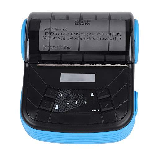 CCYLEZ MTP-3-B Portátil Mini Impresora Térmica 80mm Inalámbrica Bluetooth USB, Tonysa 90 mm/s Impresora Térmica Bluetooth Práctica para iOS Android -EU (EU)