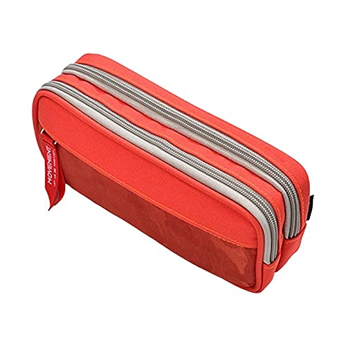 QIXIAOCYB Estuche duradero de gran capacidad para lápices con doble cremallera, bolsa para bolígrafos, papelería escolar, suministros escolares (color 5ac1103477do)