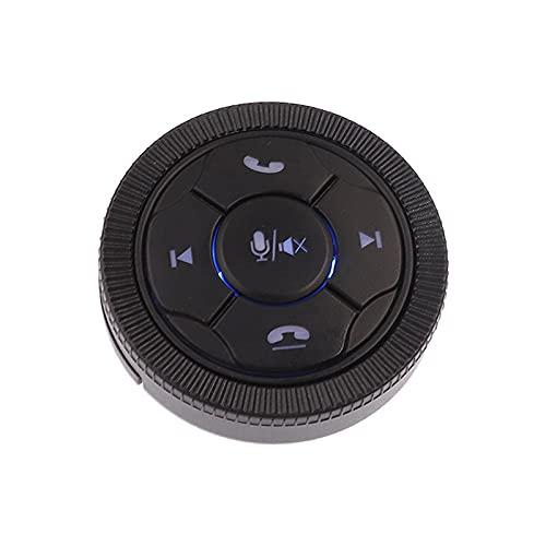 YFTGD Korean Pine Botón de Control Remoto con Volante inalámbrico de 7 Claves del automóvil Ajuste Adecuado para el Reproductor de navegación de DVD/GPS de GPS del Coche Universal (Color : Black)