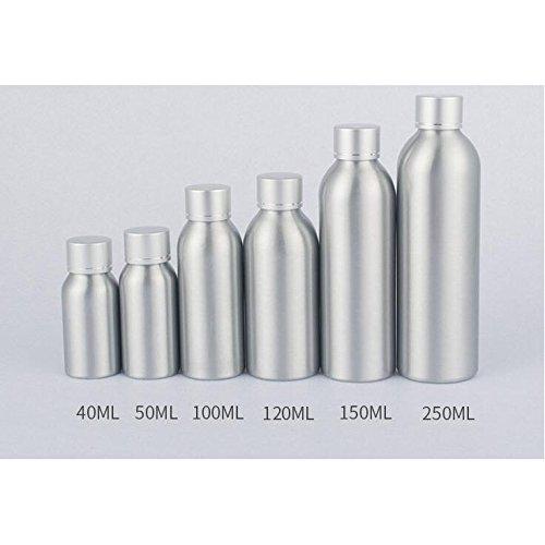 Alamor 1 Unids 40Ml-250Ml Botella De Aluminio Cuidado De La Piel Cubierta De Aluminio De Alto Grado Electroquímica Cubierta De Aluminio Botella De Aluminio Subportátil Viaje Portátil - 100Ml