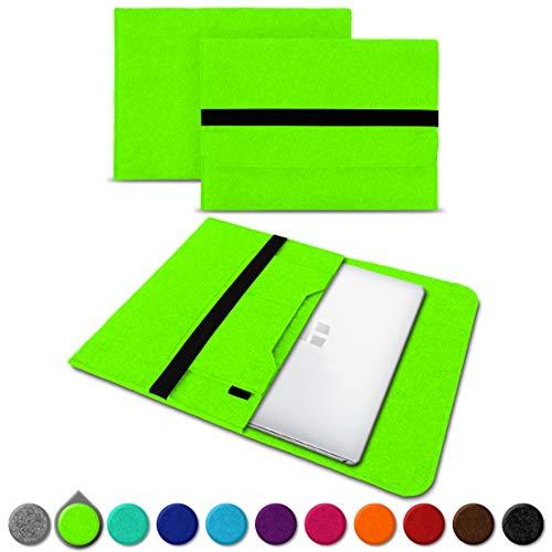 UC-Express Sleeve Hülle Odys Trendbook 14 Pro Tasche Filz Notebook Cover 14' Laptop Schutz Case, Farbe:Grün (Lime Green)