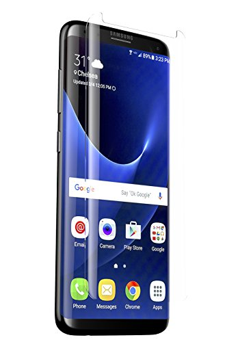 ZAGG Glass Curve Screen Protector for Samsung Galaxy S8 Plus – Case-Friendly Coverage for Curved Screen Devices – Oil-Resistant Nano Coating – Scratch-Resistant Tempered Glass