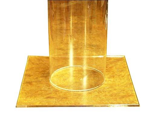 Plexiglas Rohr/Säule ø 100/94 mm, L = 1000 mm mit verklebtem Standfuß und Deckel