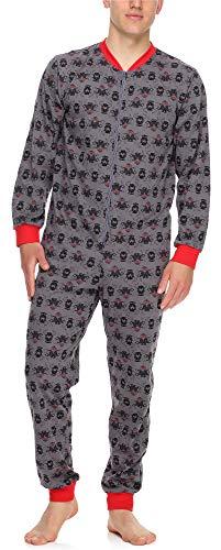 Timone Herren Schlafanzug Strampelanzug Schlafoverall TI30-119(Stier, XL)