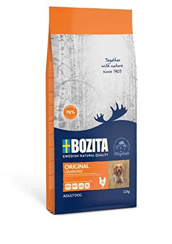 BOZITA Getreidefrei Hundefutter - 12 kg - nachhaltig produziertes Trockenfutter für erwachsene Hunde - Alleinfuttermittel