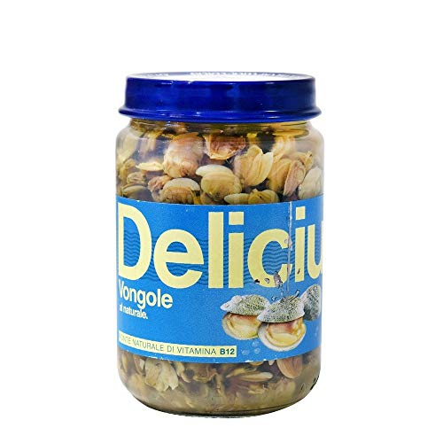 Delicius - Vongole italiane sgusciate al naturale 130 gr