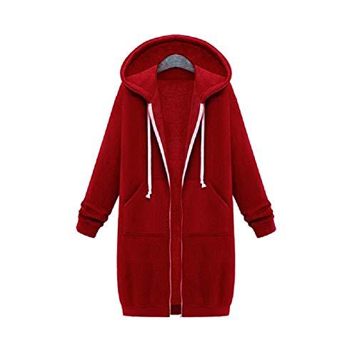 Zip Up Open Hooded Hoodies Dames Lange Mouw Jas Tops Jas S-5XL Plus Size