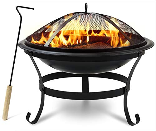 Pop-Up Fire Pit Fire Pit Portable and Lightweight Wood Burning   Spark Screen  