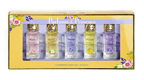 Charrier Parfums De Provence - Estuche de 5 aguas de colonia en miniatura total 54 ml