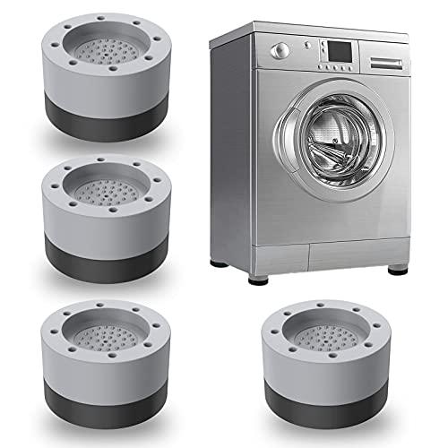 JINCHENG 4 Pièces Anti Vibration Machine à Laver Pieds,Tapis Anti-Vibration Machine à Laver-,stabilisateur de machine à laver,pour Machines à laver, Sèche-linge, Réfrigérateurs (Gris, 3.5cm)