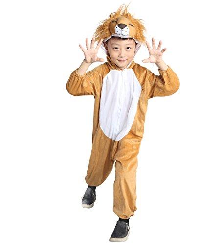 Löwe-n Kostüm-e Kind-er, An73 Gr. 104-110 (Beige), Löwen-Kostüme, Fasching Karneval, Kleinkinder-Karnevalskostüme, Kinder-Faschingskostüme, Geburtstags-Geschenk Weihnachts-Geschenk