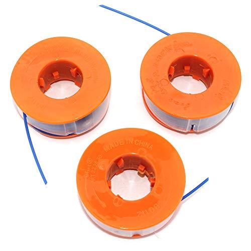 3PK Spule & Line Für Bosch ART23F ART23GF ART23GFS ART23GFSV ART23 Combitrim ART23 Komfort ART23 Easytrim ART25 ART25F (0600822468) ART26 Combitrim ART26 Easytrim ART30 Combitrim ART2600 Combitrim