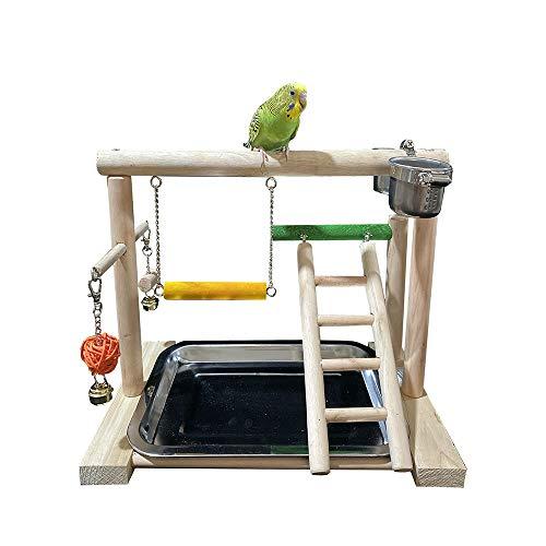 CaoDquan Papegaai Speeltuin Papegaai Trappen Swing Stand Vervormbare Tijger Huid Pioen Mysterieuze Monnik Papegaai Geschikt voor Kleine Vogels