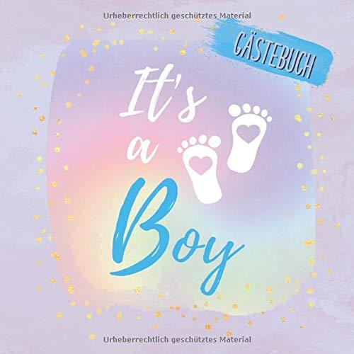 It's a Boy Gästebuch: Buntes Erinnerungsalbum zur Babyparty | Erinnerungsbuch als Geschenk für die...
