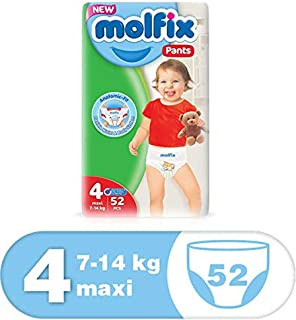 Molfix Anti Leakage Comfortable Maxi Baby Diaper Pants, 7-14 kg, 52 Count (5054276)