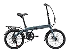 The KESPOR K7 folding bike is designed with more durable aluminum frame, disc brake, an easy folding mechanism system, Keep sport easy 7 Speed folding city bicycle with Shimano Twist Shifter, Shimano rear derailleur TZ-50, Shimano freewheel. A foldab...