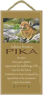 """SJT. Enterprises, INC. Advice from a Pika / 5"""" x 10"""" Wood Plaque, Sign - Licensed from Your True Nature (SJT67298)"""
