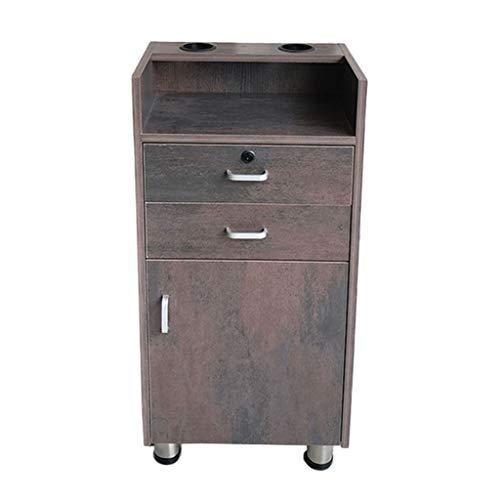Zzmop Friseursalon Kabinett Haar Produkt Verkaufsmöbel Retro hölzerner Kabinett, mit 2 Fächern, vertikaler Kabinett (Größe: 38 * 28 * 80cm)