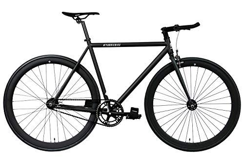 FabricBike Original Pro- Bicicleta Fixie, Piñon Fijo Flip-Flop, Single Speed, Cuadro Hi-Ten Acero, 10,45 kg. (Talla M) (Pro Fully Matte Black, M-53cm)