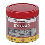 fischer - Chevilles nylon tous matériaux SX 8x40 / Roundbox de 80